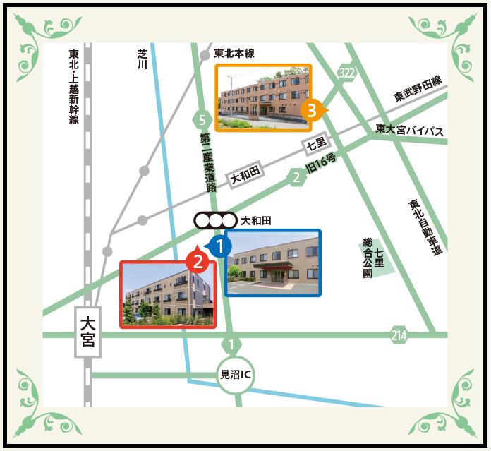 大宮方面地図